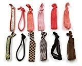 Kooba Elastic Hair Ties Colorful Prints and Solids Ribbon Hairties for Women Girls Teens and Kids 2 Pack