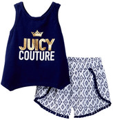 Juicy Couture Sharkbite Tank & Printed Short Set (Little Girls)