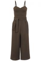 Quiz Khaki Crepe Strappy Culotte Jumpsuit