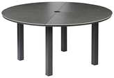 Barlow Tyrie Cayman 4-Seater Garden Dining Table, Round, Graphite / Storm