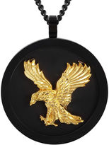 FINE JEWELRY Mens Two-Tone Stainless Steel Eagle Pendant Necklace