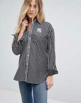 Polo Ralph Lauren Boyfriend Fit Striped Shirt With Crest Logo