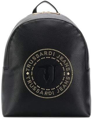 Trussardi Jeans stud logo backpack