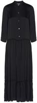 Raquel Allegra Black Shirred Waist Dress