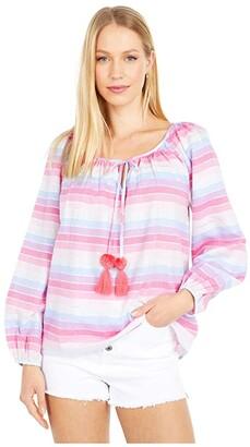 J.Crew Jack Top Rainbow Metallic Stripe (Purple/Pink Multi) Women's Clothing