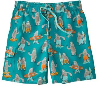 L.L. Bean L.L.Bean Infant and Toddler Boys' BeanSport Swim Shorts, Print