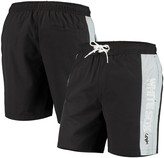 G Iii Men's G-III Sports by Carl Banks Black Chicago White Sox Outfield Volley Swim Shorts