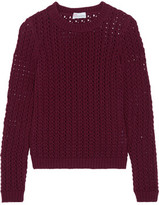 RED Valentino Wool And Cashmere-Blend Open-Knit Sweater