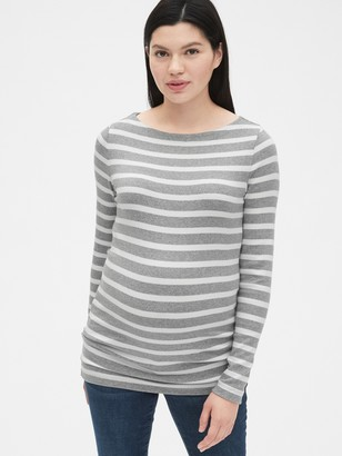 Gap Maternity Modern Stripe Boatneck T-Shirt