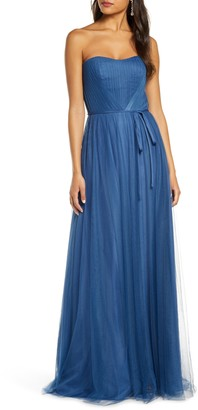 Marchesa Strapless Tulle Bridesmaid Gown