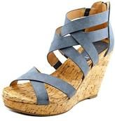 Report Khandi Women Open Toe Synthetic Gray Wedge Sandal.