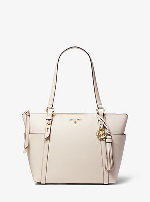 MICHAEL Michael Kors MK Nomad Medium Saffiano Leather Top-Zip Tote Bag - Light Sand - Michael Kors