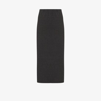 Our Legacy Ribbed Knit Midi Skirt