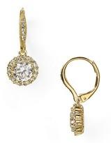 Nadri Framed Round Cubic Zirconia Drop Earrings