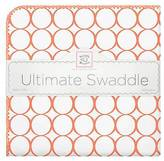 Swaddle Designs ; Ultimate Receiving Blanket - Mod Circles - Orange
