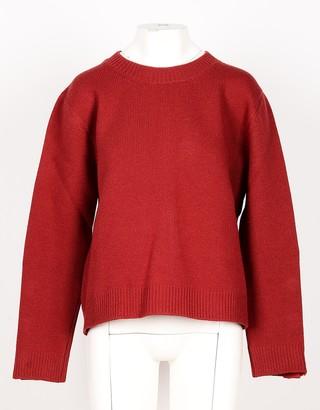 N°21 Red Wool Black Women's Sweater w/Back Zip