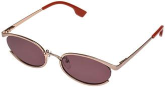 Le Specs Luxe Tres Solo Oval Sunglasses