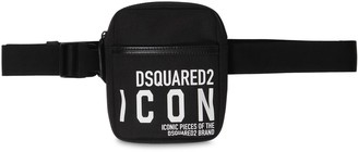 DSQUARED2 New Icon Rubberized Print Tech Belt Bag