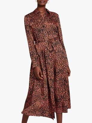 Damsel in a Dress Mayumi Leopard Maxi Shirt Dress, Multi