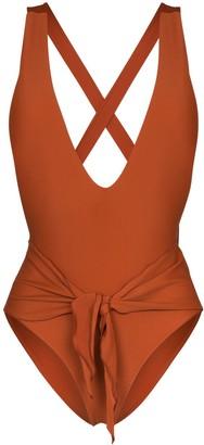 Juillet Georgia waist-tie swimsuit