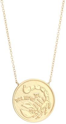 Jennifer Zeuner Jewelry Sylas 14K Gold Vermeil Scorpio Medallion Necklace