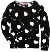 Aqua Girls' Hearts & Arrows Sweater - Sizes S-XL