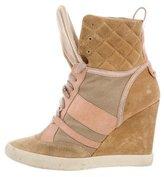 Chloé Paneled Wedge Sneakers
