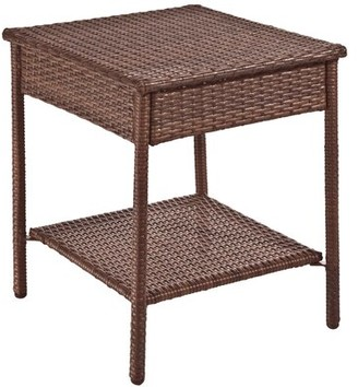 Panama Jack Key Biscayne Wicker/Rattan Side Table Outdoor