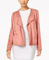 NY Collection Faux-Suede Jacket