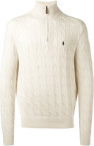Polo Ralph Lauren cable knit zipped jumper - men - Cotton - S