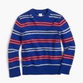 J.Crew Boys' softspun crewneck sweater in stripe