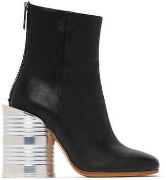 MM6 MAISON MARGIELA Black Can Heel Boots