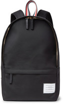 Thom Browne Pebble-grain Leather-trimmed Nylon Backpack - Black
