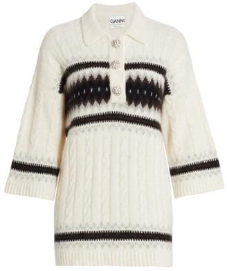 Ganni Oversized Striped Knit Pullover