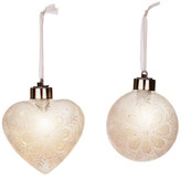Mark Roberts Frosted LED Ornaments - Set of 2