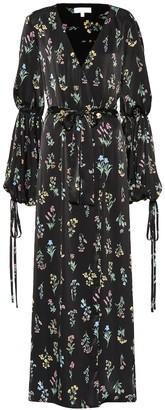 Caroline Constas Doria floral satin maxi dress