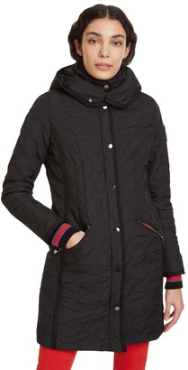 Desigual Leicester Long Padded Jacket with Hood and Pockets