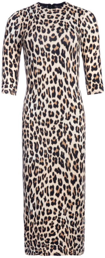 Thumbnail for your product : Alice + Olivia Delora Fitted Mock Neck Midi Dress