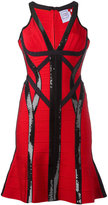 Herve Leger Zahara sequinned dress - women - Nylon/Spandex/Elastane/Rayon - M