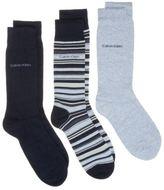 Calvin Klein New Mens Multi Dexter 3 Pack Cotton/Polyester Socks Casual