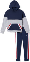 Beverly Hills Polo Club Boys' Sweatpants GREY - Gray Heather Stripe Pieced Hoodie & Joggers - Toddler & Boys