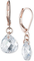 lonna & lilly Rose Gold-Tone Teardrop Crystal Drop Earrings