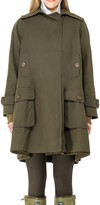 Max Studio Water Repellent Wool Lined Raincoat