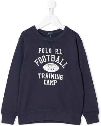 Ralph Lauren Kids Football Training Camp sweatshirt
