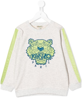 Kenzo Kids Crew Neck Embroidered Tiger Sweater