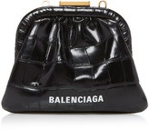 Balenciaga Cloud Croc-Effect Leather Coin Purse