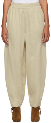 See by Chloe Beige Twill Fluid Trousers