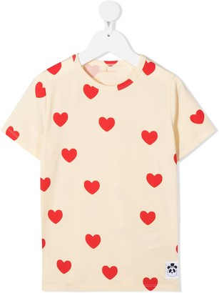 Mini Rodini heart-print T-shirt