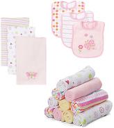 SpaSilk Pink Flower Butterfly & Heart Baby Cloth set