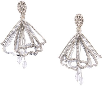 Oscar de la Renta Chandelier Clip-On Earrings